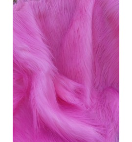 Umelá kožušina metráž - svetlá ružová
