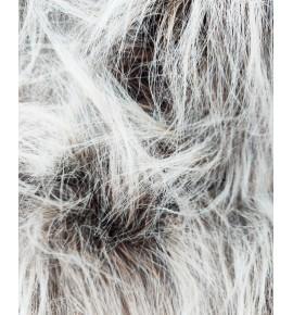 Umelá kožušina metráž - hnedý melír