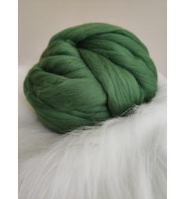 Ovčie rúno - tmavá zelená