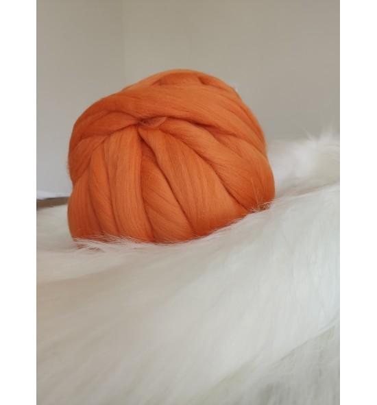 Ovčie rúno - oranžová