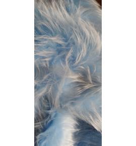 Umelá kožušina metráž - svetlá modrá - vlas 50 mm