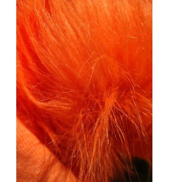 Umelá kožušina metráž - oranžová
